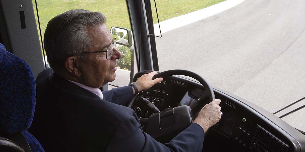 Lamers bus driver Terry Suttner
