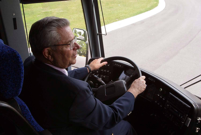 Lamers Bus Lines, Inc. bus driver Terry Suttner