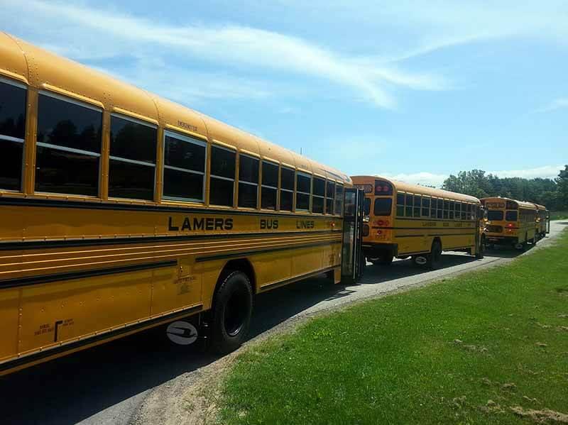 Lamers Bus Lines, Inc. school buses