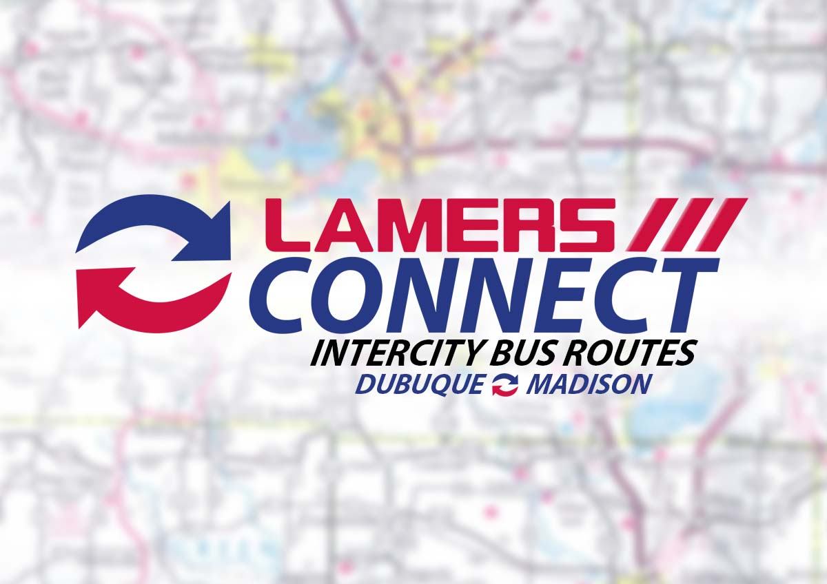 Lamers Connect intercity bus routes Dubuque and Madison