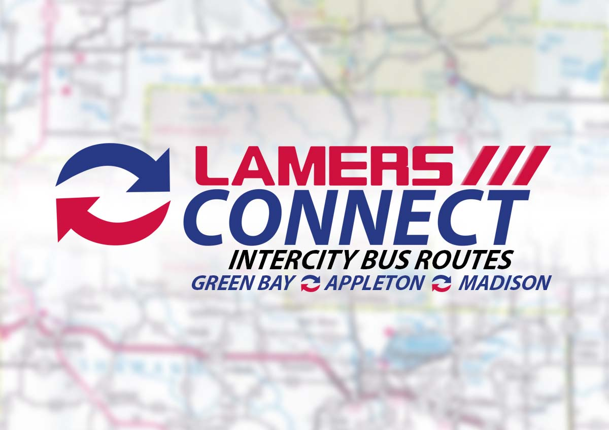 Lamers Connect intercity bus routes Green Bay Appleton and Madison
