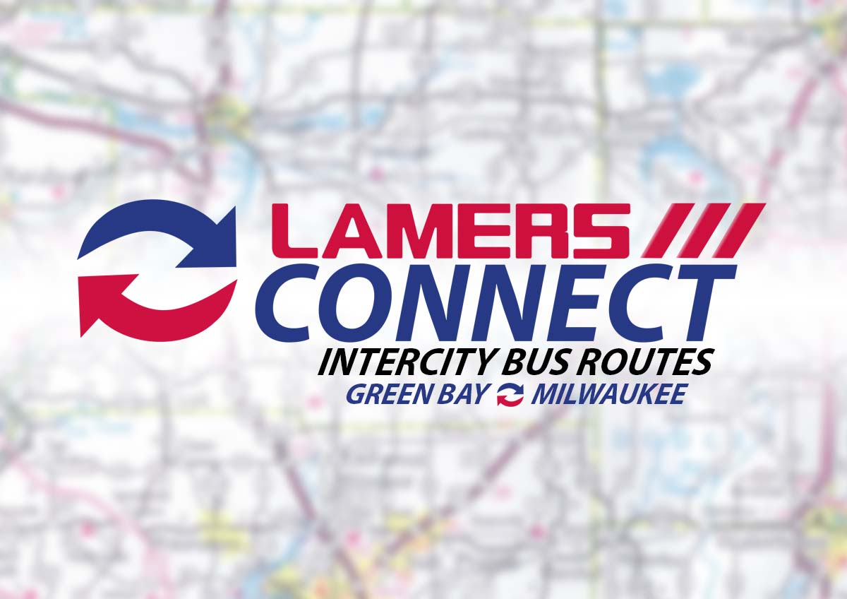 Lamers Connect intercity bus routes Green Bay and Milwaukee