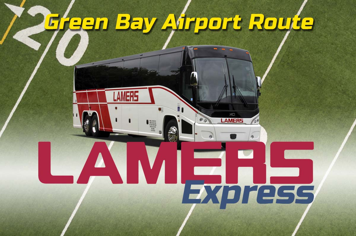 Lamers Express Green Bay Airport game day route