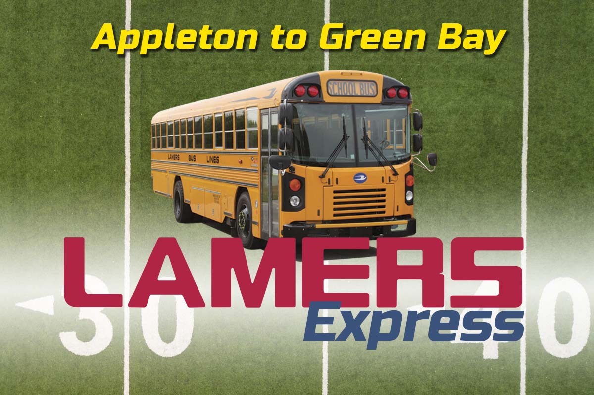 Lamers Express Appleton to Green Bay game day routes
