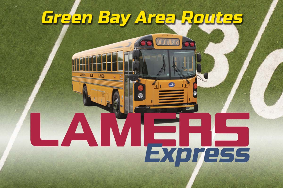 Lamers Express Green Bay Area game day routes