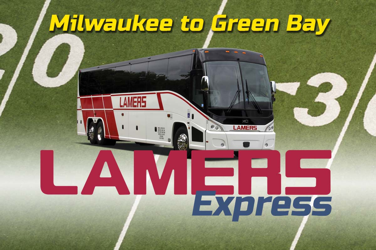 Lamers Express Milwaukee to Green Bay game day routes