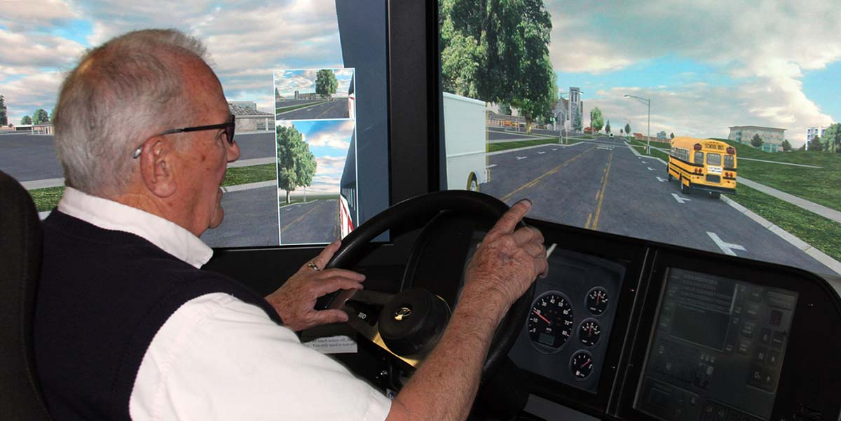 Lamers Bus Lines, Inc. driving simulator training for safety week