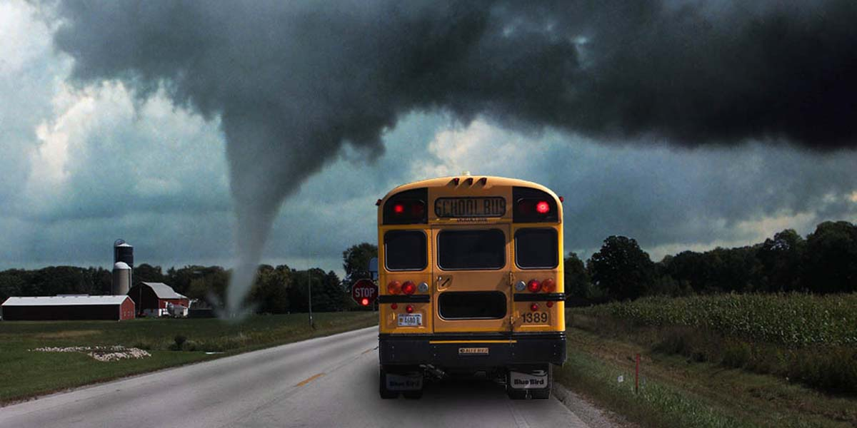 School buses and tornadoes