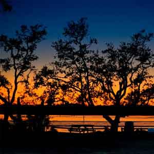 Florida River at dusk