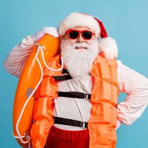Santa in lifejacket